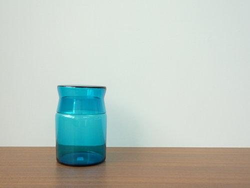 もみじ市で買った青い瓶 6