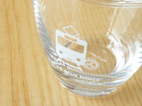 伊勢丹のワールドロゴデザインマーケットでスウェーデン鉄道のグラスを買いました02