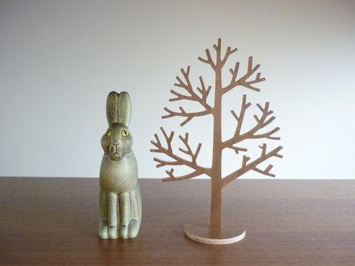 木のツリーオブジェ 5